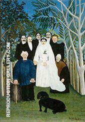 The Wedding Party By Henri Rousseau Replica Paintings on Canvas - Reproduction Gallery