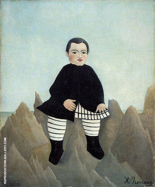 Boy on the Rocks 1897 By Henri Rousseau - Oil Paintings & Art Reproductions - Reproduction Gallery