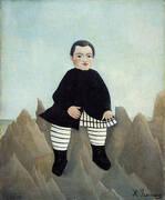 Boy on the Rocks 1897 By Henri Rousseau