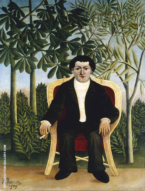 Reproduction of Portrait of Joseph Brummer 1906 by Henri Rousseau | Oil Painting Replica On CanvasReproduction Gallery