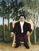 Portrait of Joseph Brummer 1906 By Henri Rousseau