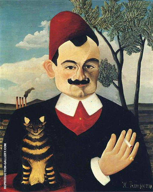 Reproduction of Portrait of Pierre Loti c1891 by Henri Rousseau | Oil Painting Replica On CanvasReproduction Gallery