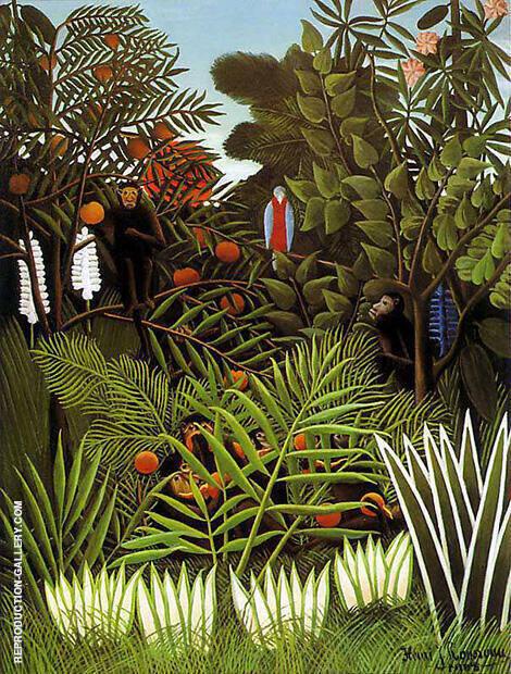 Exotic Landscape 1908 By Henri Rousseau