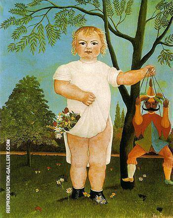 An Exemplum to Fete Baby 1903 By Henri Rousseau - Oil Paintings & Art Reproductions - Reproduction Gallery