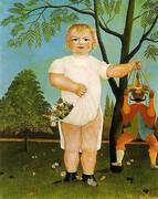 An Exemplum to Fete Baby 1903 By Henri Rousseau