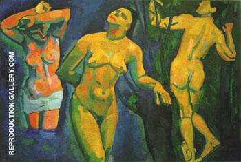 Reproduction of Bathers 1907 by Andre Derain | Oil Painting Replica On CanvasReproduction Gallery