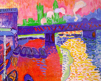 Charing Cross Bridge 1906 By Andre Derain Replica Paintings on Canvas - Reproduction Gallery