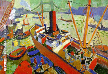 Reproduction of Pool of London 1906 by Andre Derain | Oil Painting Replica On CanvasReproduction Gallery