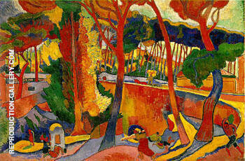 Turning Road L'Estaque Painting By Andre Derain - Reproduction Gallery