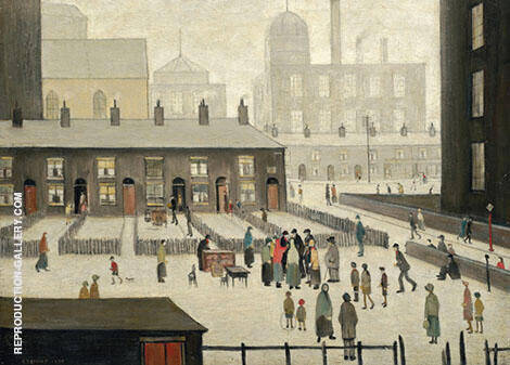 Reproduction of The Removal 1928 by L-S-Lowry | Oil Painting Replica On CanvasReproduction Gallery