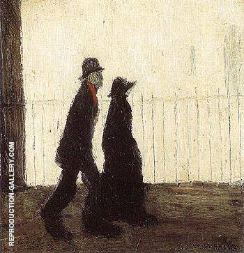 Going for a Walk 1942 By L-S-Lowry Replica Paintings on Canvas - Reproduction Gallery
