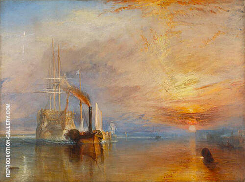 Reproduction of The Fighting Temeraire 1838 by Joseph Mallord William Turner | Oil Painting Replica On CanvasReproduction Gallery