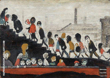 Reproduction of Children on the Steps by L-S-Lowry | Oil Painting Replica On CanvasReproduction Gallery