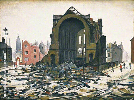 Saint Augustine Church Manchester 1945 By L-S-Lowry