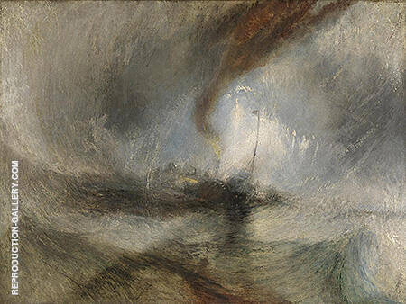 Snow Storm 1842 By Joseph Mallord William Turner Replica Paintings on Canvas - Reproduction Gallery