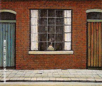 Flowers in a Window 1956 By L-S-Lowry - Oil Paintings & Art Reproductions - Reproduction Gallery