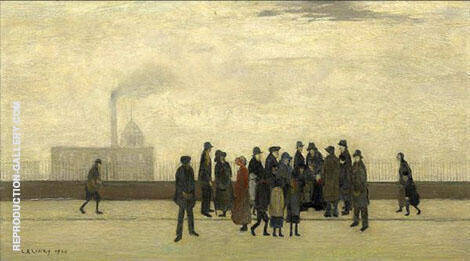 A Sudden Illness 1920 By L-S-Lowry - Oil Paintings & Art Reproductions - Reproduction Gallery