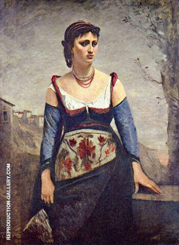 Reproduction of Agostina 1866 by Jean-baptiste Corot | Oil Painting Replica On CanvasReproduction Gallery