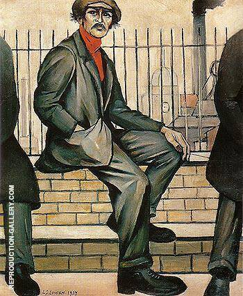 Unemployed 1937 By L-S-Lowry