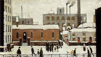 Snow in Manchester 1946 By L-S-Lowry - Oil Paintings & Art Reproductions - Reproduction Gallery
