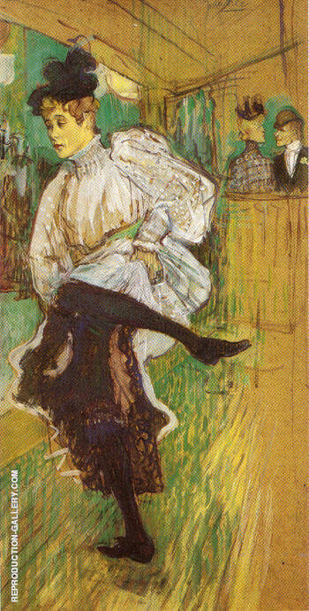 Jane Avril Dancing 1892 By Henri De Toulouse-lautrec - Oil Paintings & Art Reproductions - Reproduction Gallery