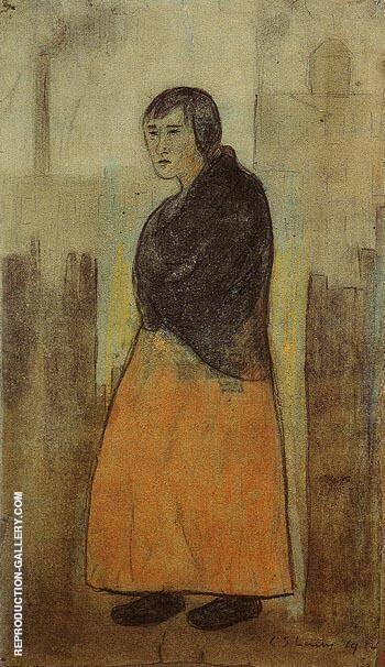 Mill Worker 1912 By L-S-Lowry
