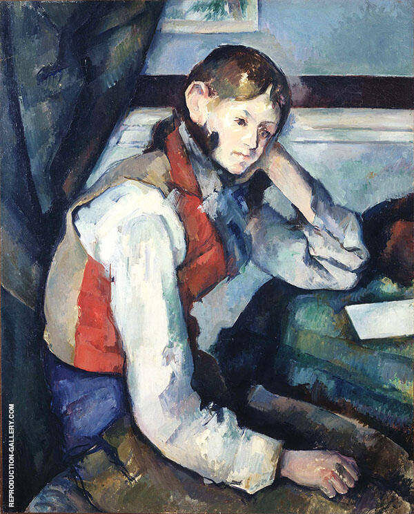 Boy in a Red Vest 1889 By Paul Cezanne