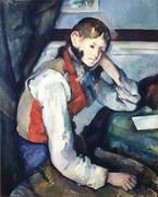 Boy in a Red Vest 1889 By Paul Cezanne