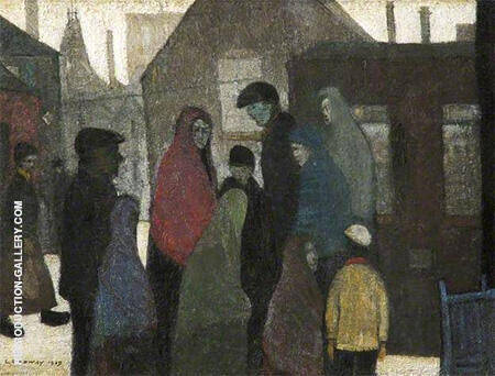 Pit Tragedy 1919 By L-S-Lowry - Oil Paintings & Art Reproductions - Reproduction Gallery