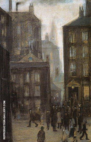 The Lodging House 1921 By L-S-Lowry