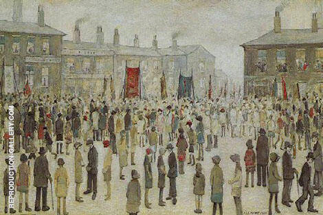 Reproduction of The Procession 1927 by L-S-Lowry | Oil Painting Replica On CanvasReproduction Gallery