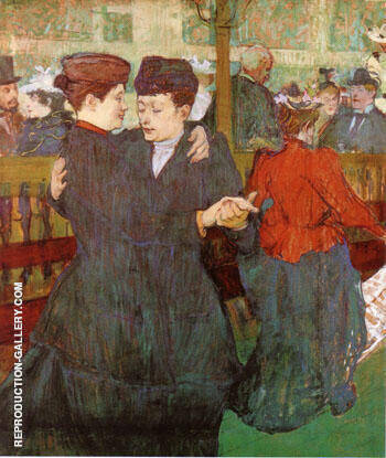 Two Women Dancing at the Moulin Rouge 1892 By Henri De Toulouse-lautrec