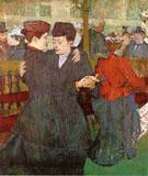 Two Women Dancing at the Moulin Rouge 1892 By Henri De Toulouse-lautrec