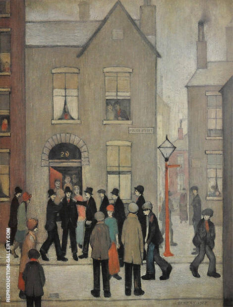 The Arrest 1927 By L-S-Lowry