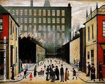 Street Scene Cul de sac 1935 By L-S-Lowry Replica Paintings on Canvas - Reproduction Gallery
