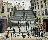 Steps at Wick By L-S-Lowry