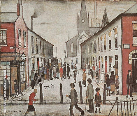 The Fever Van 1935 By L-S-Lowry - Oil Paintings & Art Reproductions - Reproduction Gallery