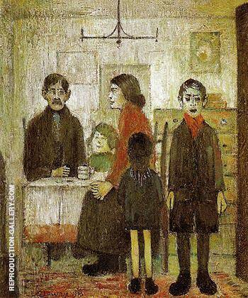 Short Time Family Discord Interior 1935 By L-S-Lowry