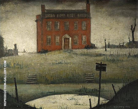 The Empty House 1934 Painting By L-S-Lowry - Reproduction Gallery