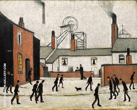 Mill Workers 1948 By L-S-Lowry - Oil Paintings & Art Reproductions - Reproduction Gallery