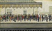 Railway Platform 1953 By L-S-Lowry