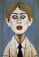 Portrait of a Young Man 1955 By L-S-Lowry