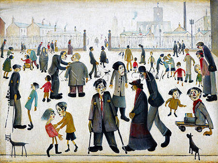 The Cripples 1949 By L-S-Lowry Replica Paintings on Canvas - Reproduction Gallery