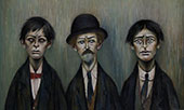 Father and Two Sons 1950 By L-S-Lowry