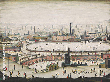 The Pond 1950 By L-S-Lowry - Oil Paintings & Art Reproductions - Reproduction Gallery