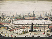 The Pond 1950 By L-S-Lowry