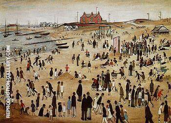 July the Seaside 1943 By L-S-Lowry
