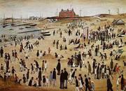 July the Seaside 1943 By L-S-Lowry