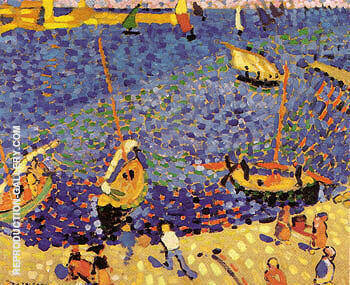 Boats at Collioure 1905 By Andre Derain