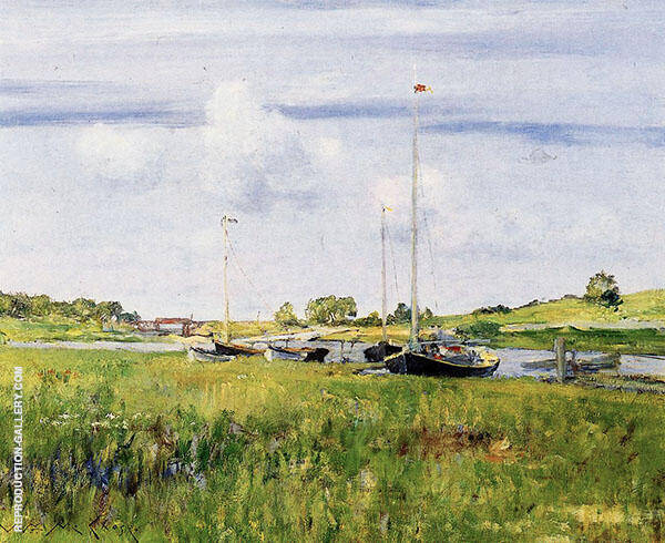 At the Boat Landing 1902 Painting By William Merritt Chase